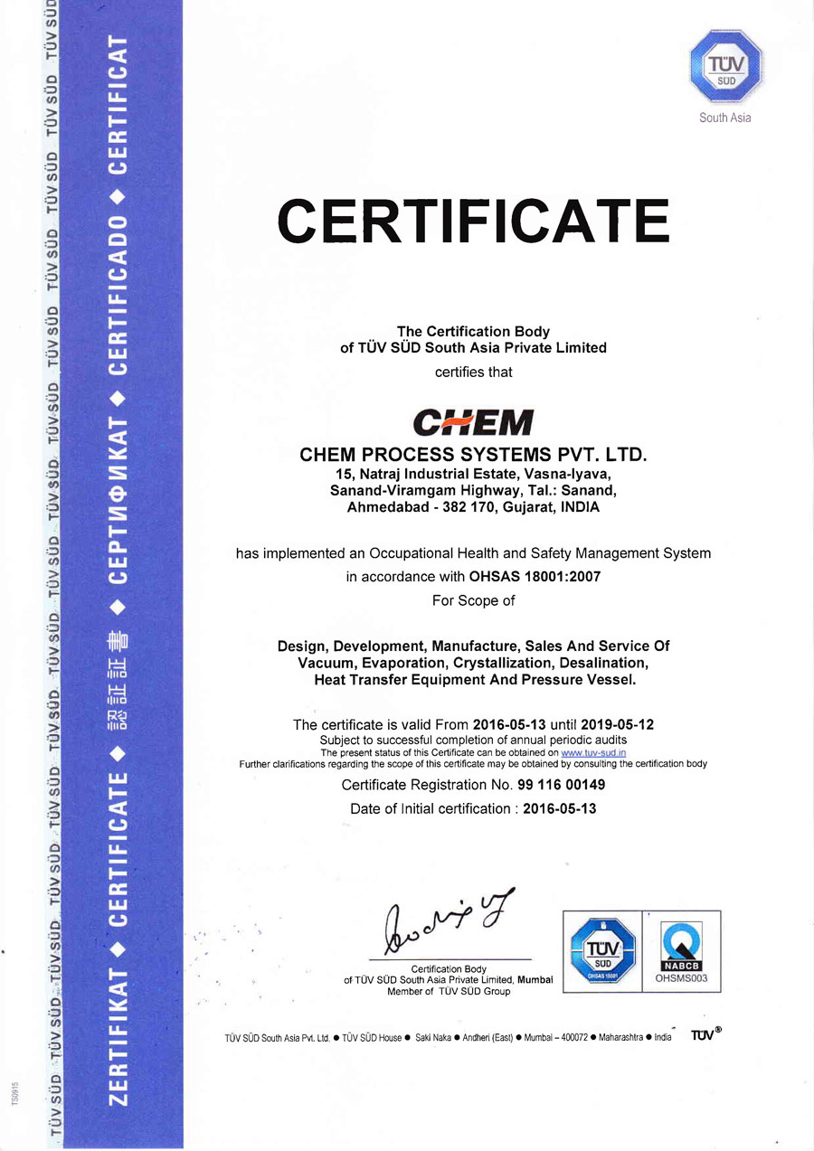 Quality Assurance Chem Process Systems